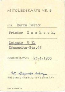 Mitgliedskarte Zschoch